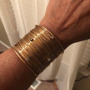 Jewelry - Gold Cuff w/ Rhinestones